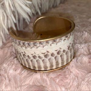 NWT Snake leather gold bracelet from Francescas
